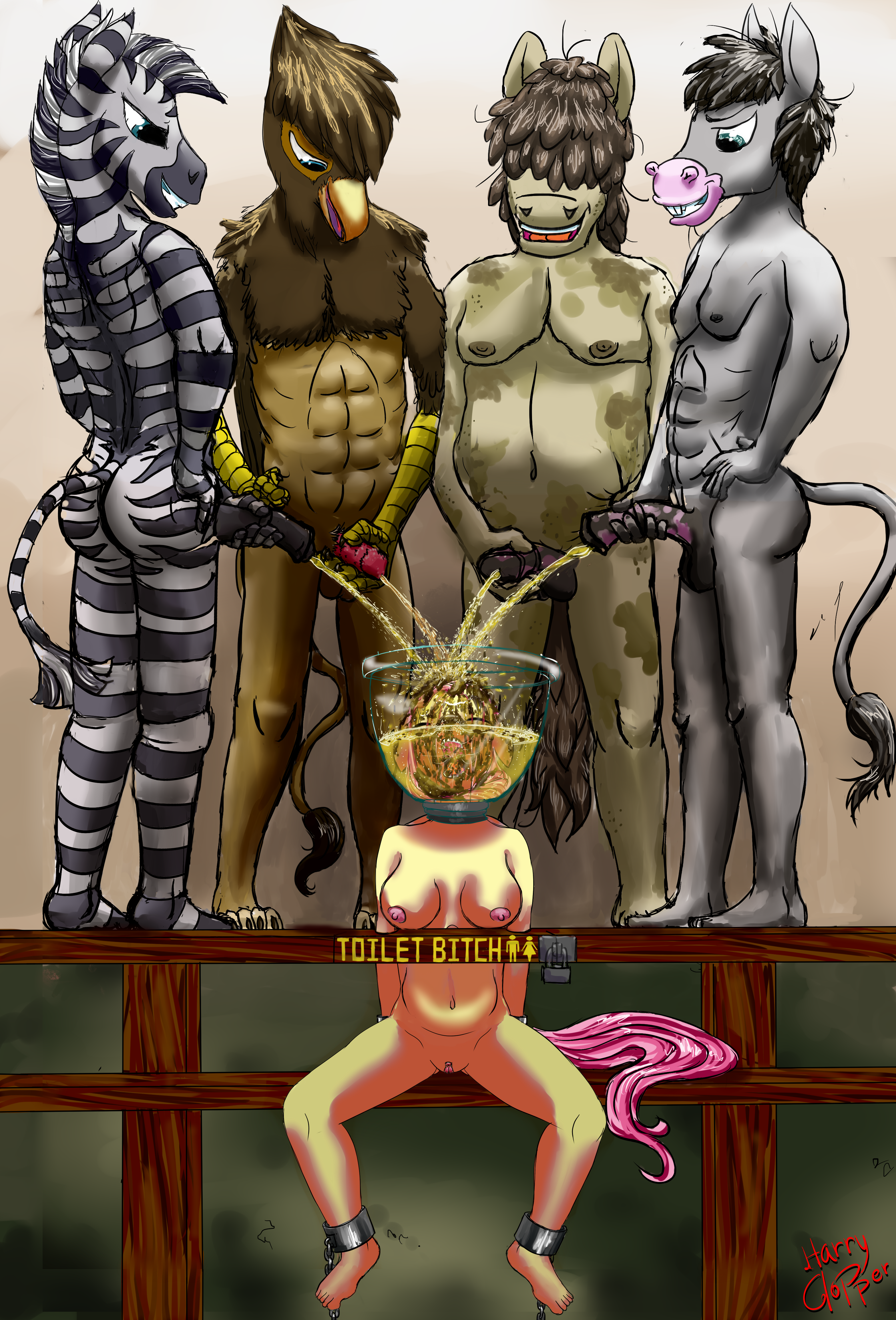 2122129_HarryClopper_completed_fluttershy_toilet_head_full_piss_scat_big_belly