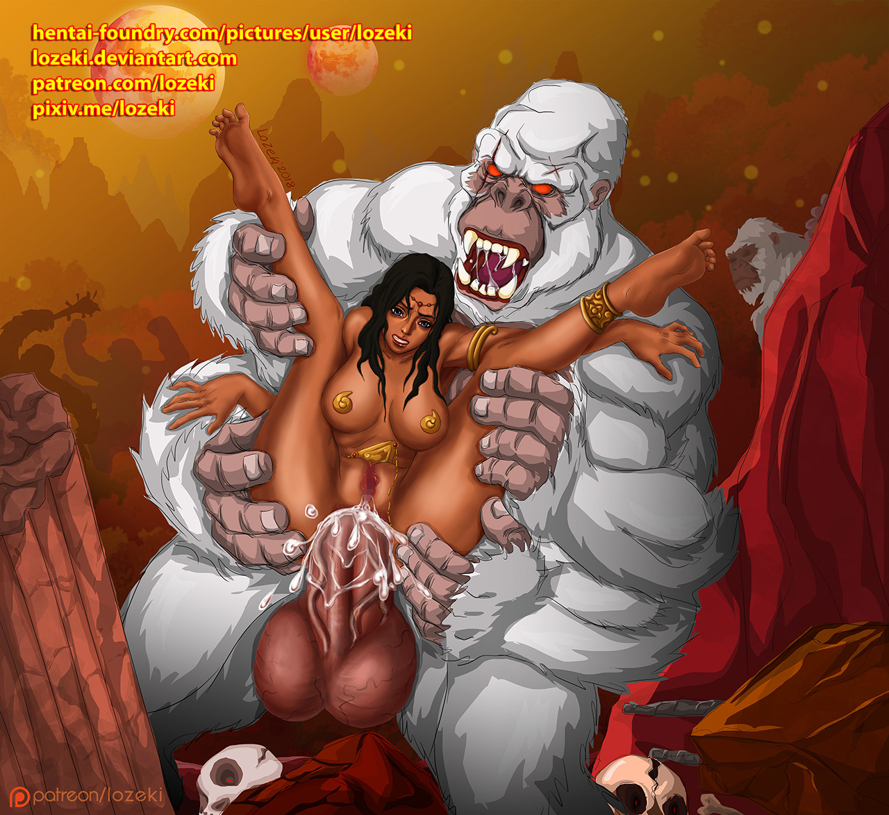 lozeki-571630-Dejah_Thoris_and_White_Apes