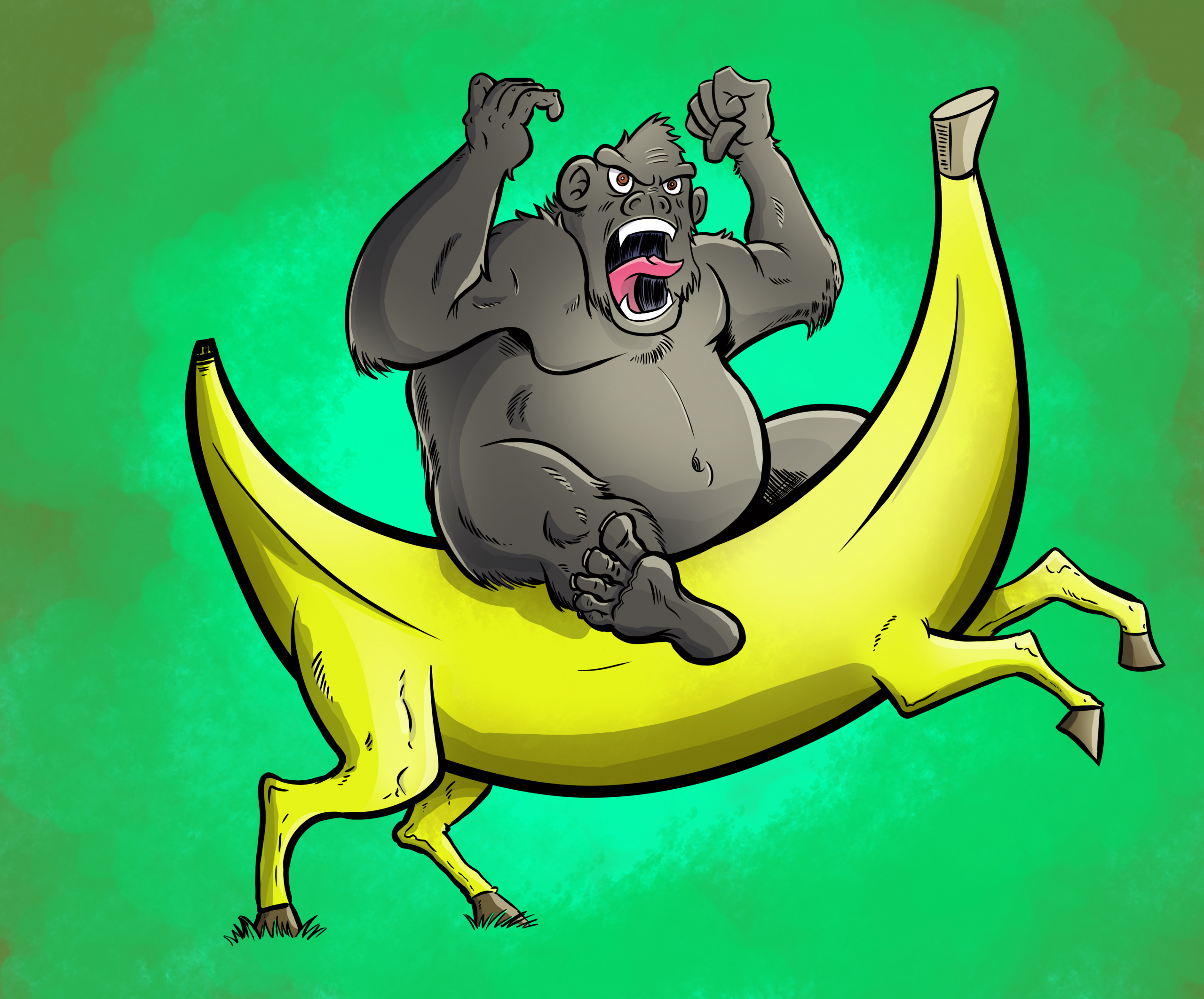 652476_crockercomics_gorilla-on-a-banana-horse