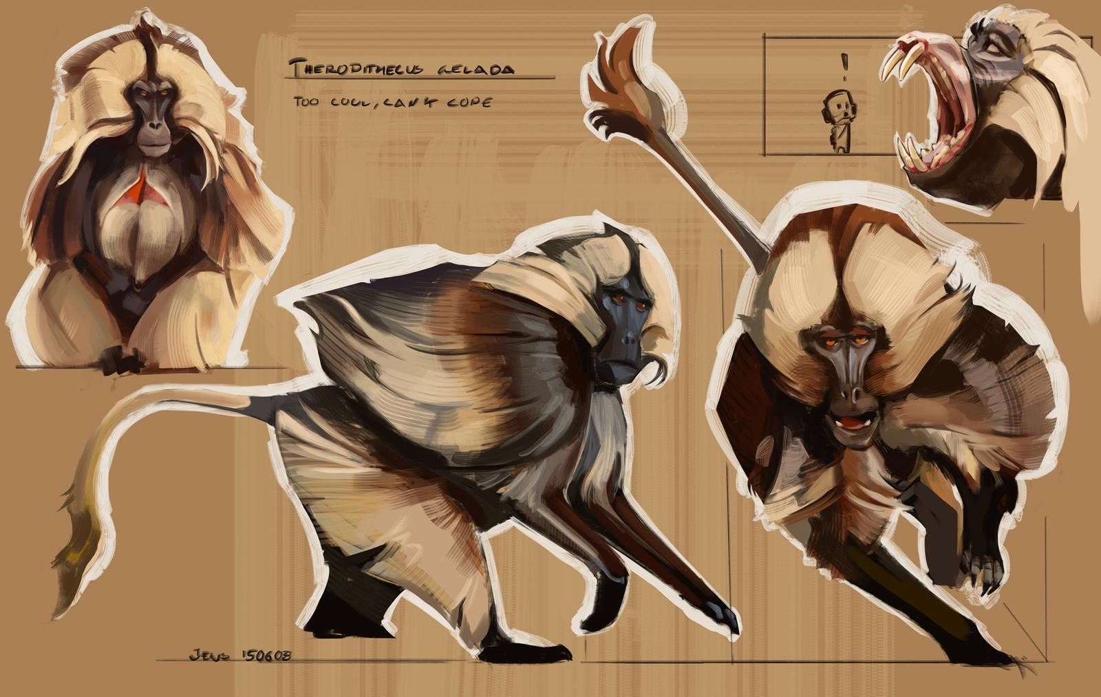 sketchbook___colour_and_light__gelada__by_caconymdesign_d8wj3wo-fullview